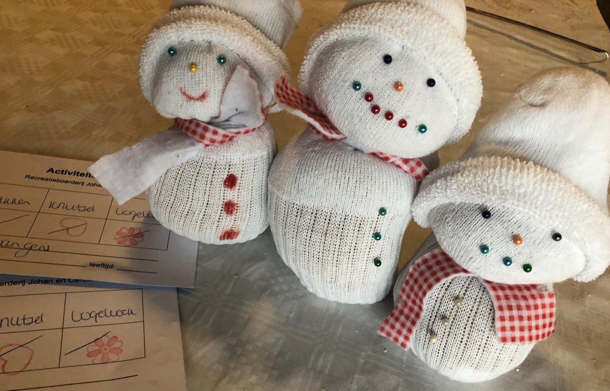Sneeuwpoppetjes l Johan en Caroline