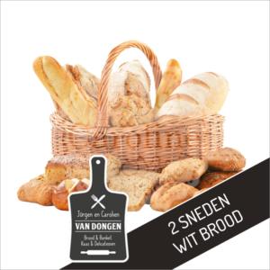 2 Sneden wit brood l Johan en Caroline